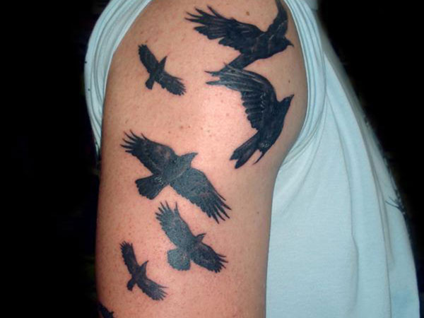 divine inspiration 25 Wonderful Crow Tattoo Collection