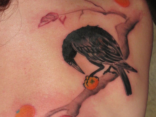 Lovely Crow Tattoo