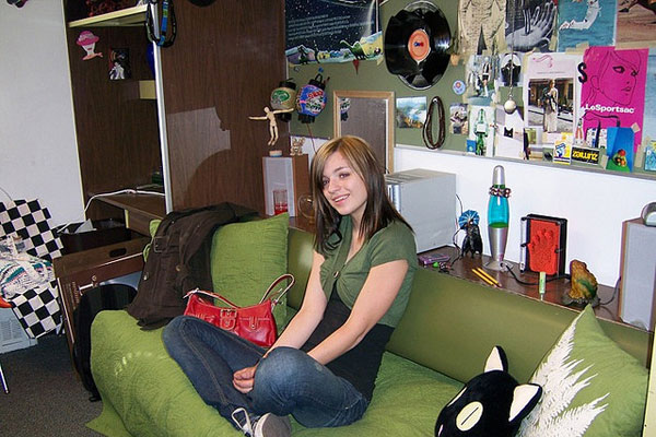 Heather In Her Dorm Room