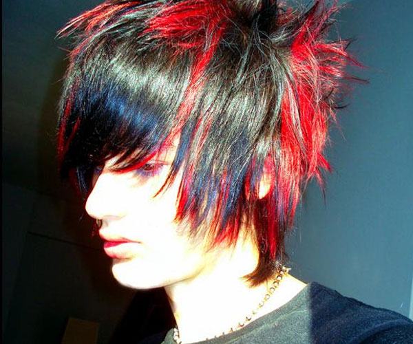 red black emo guy hair 35 Magnificent Emo Hairstyles For Guys