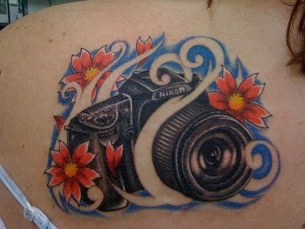 camera tattoo 50 Hair Raising Feminine Tattoos