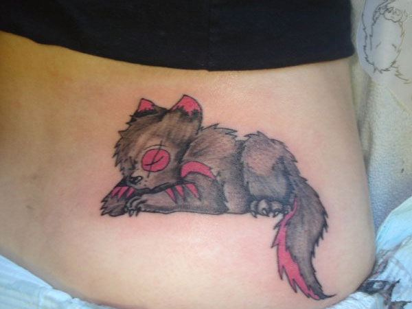 wolf tattoo 50 Hair Raising Feminine Tattoos