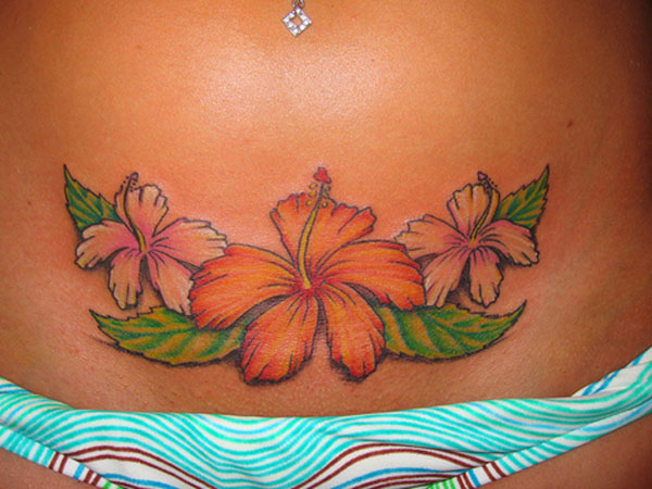Sensuous Hawaiian Flower Tattoo