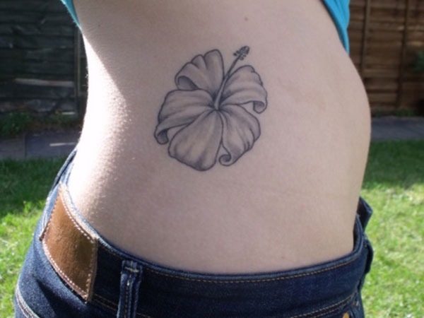 Hawaiian Flower Side Tattoo