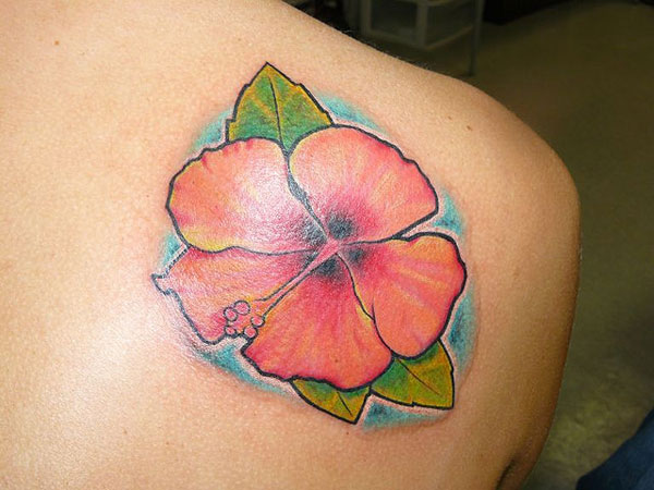 hibiscus tattoo for back 30 Artistic Hawaiian Flower Tattoos