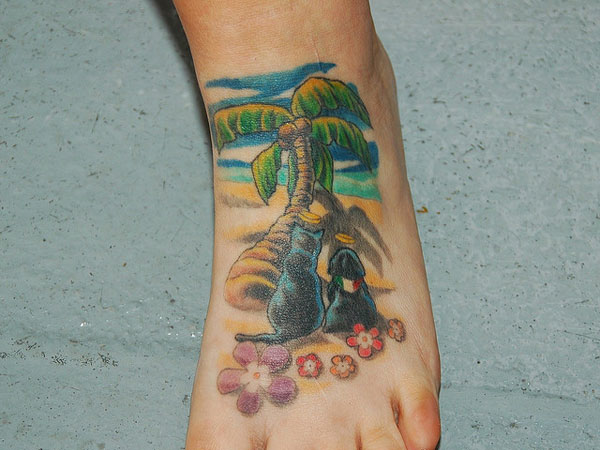 Picturesque Foot Tattoo