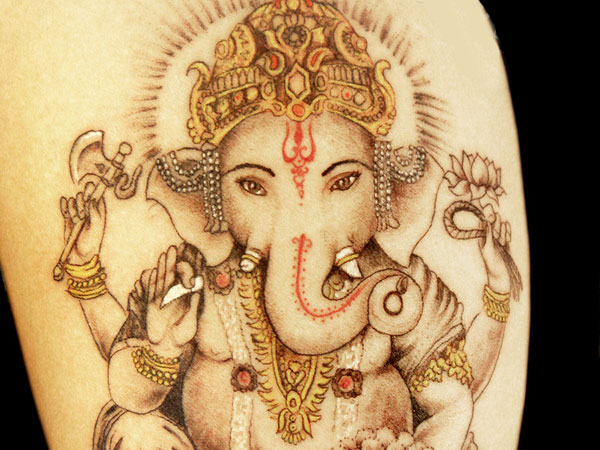 Ganesha Custom Tattoo