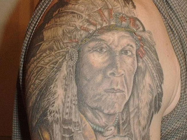 indian chief 35 Impressive Indian Tattoos
