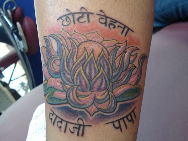 lotus flower tattoo 35 Impressive Indian Tattoos