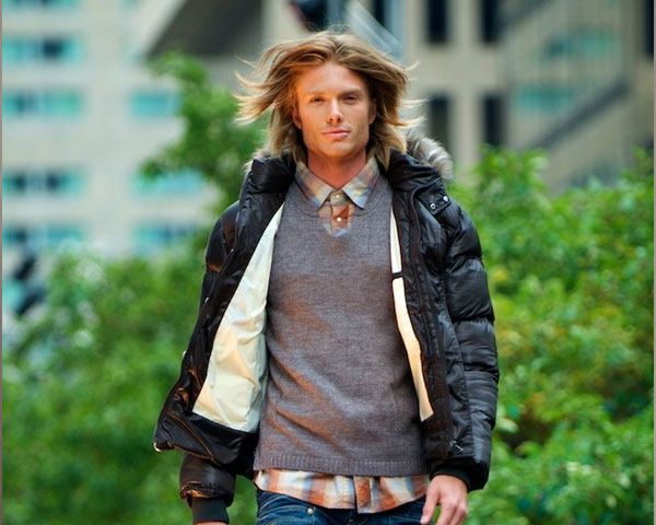 hunk on runway 30 Mens Long Hairstyles Which Will Make You Look Perfect