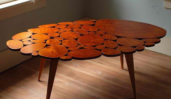 Beautiful Modern Wood Circle Table With Wood Table Design