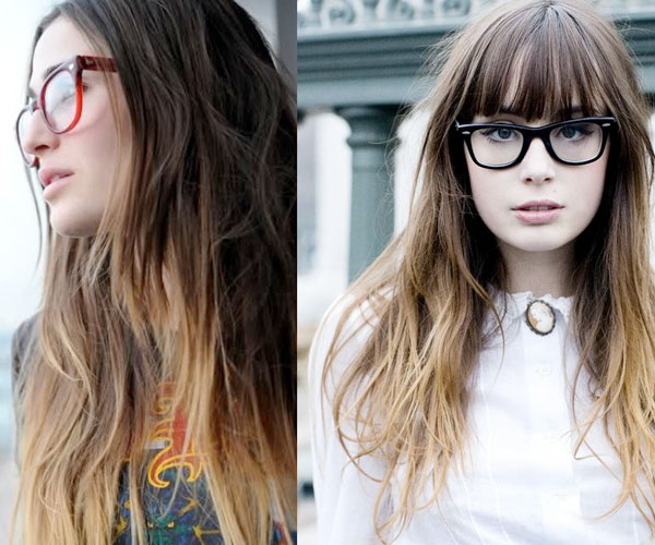 Long Ombre Hairstyles With Bangs Haircuts