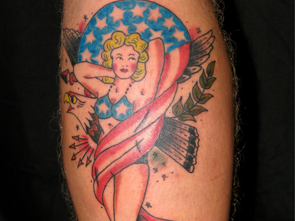 Pin-Up Patriotic Girl