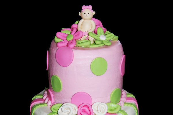 baby girl cake 30 Staggering Pictures of Baby Shower Cakes