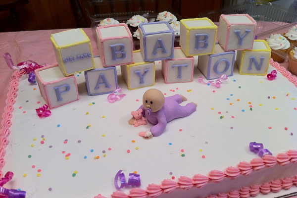 Baby Playtown Shower Cake