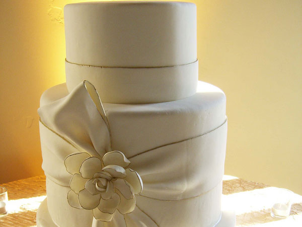 Gold Gilded Wedding Cake