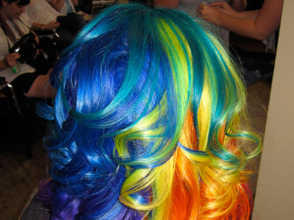 rainbow hair 30 Spectacular Sew In Hairstyles