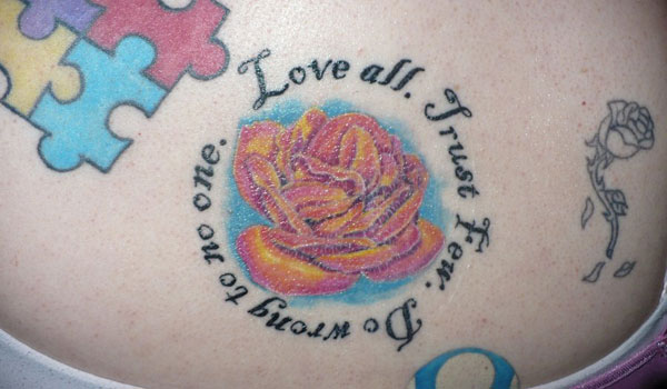 love all tattoo 30 Impressive Short Quotes For Tattoos