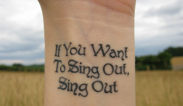 summer tattoo 30 Impressive Short Quotes For Tattoos