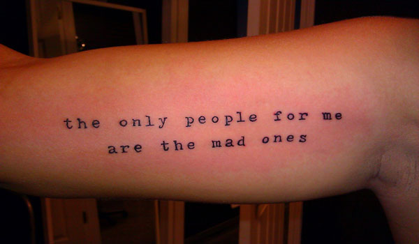 typewriter lettering tattoo 30 Impressive Short Quotes For Tattoos