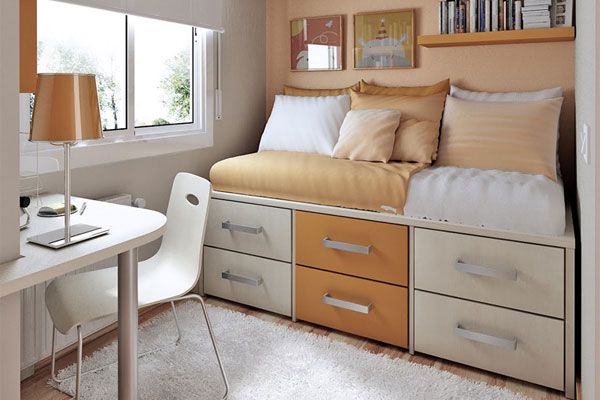 Small Compact Bedroom Designs 600 x 400