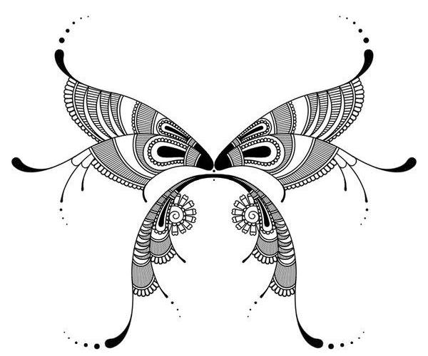 Henna Style Butterfly