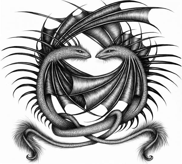 selah twin tattoo design 35 Fascinating Tattoo Patterns