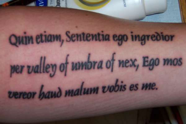 latin bible phrase 40 Awe Inspiring Tattoo Sayings