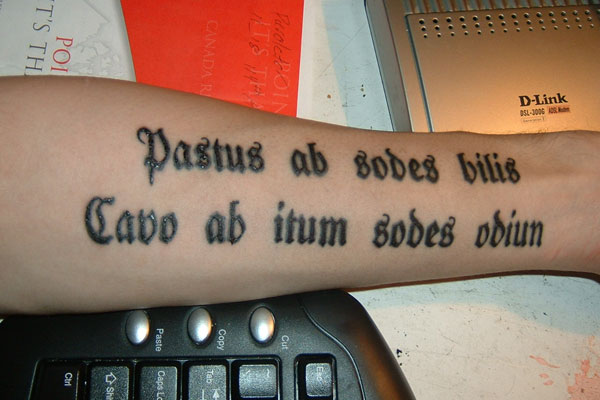 Latin Phrase Tattoo