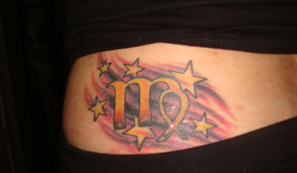 Virgo Sign With Stars Virgo Star Sign Tattoos For Men
