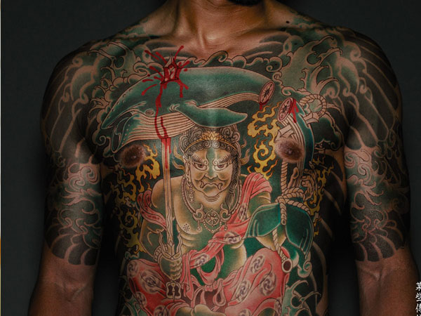full front tattoo 25 Breathtaking Yakuza Tattoo Designs