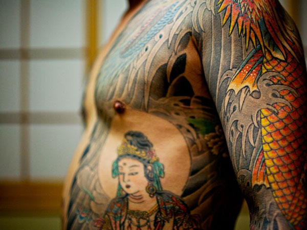 Half Body Tattoo Comics Yakuza Tattoo Side Tattoo Covering The