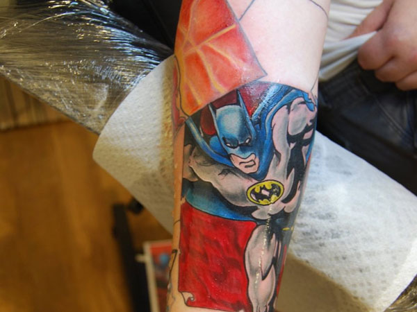 Batman Sleeve Tattoo