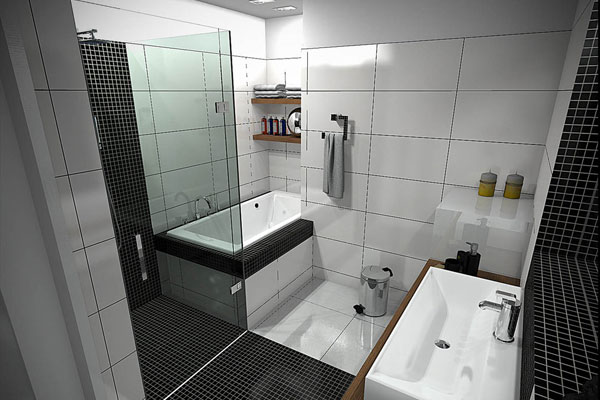 Small Designer Bathroom