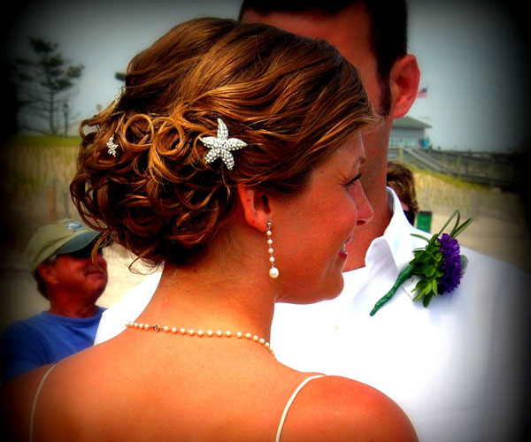 Charming Beach Wedding Updo