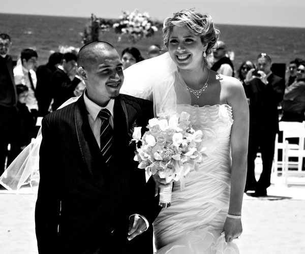 black and white 30 Fascinating Beach Wedding Hairstyles