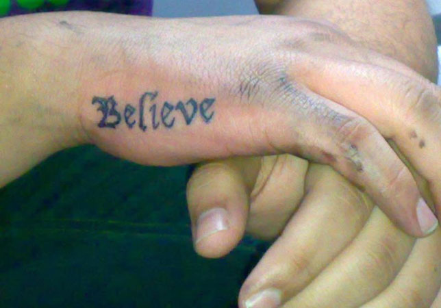 Really Inspirational Believe Tattoos Design Press