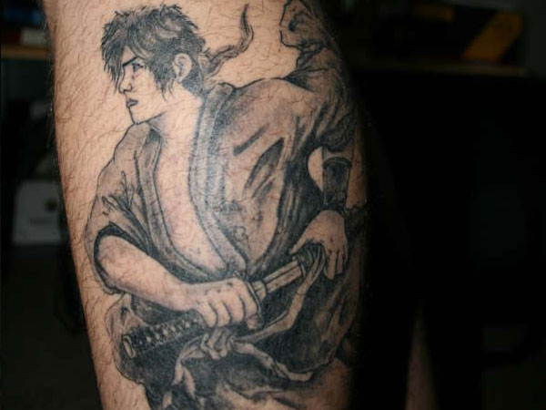 Realistic Warrior Tattoo