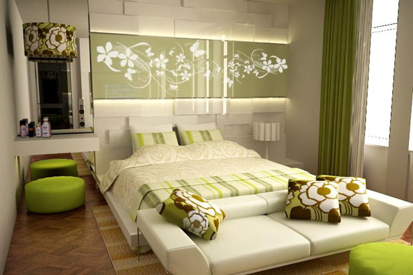 green accented white bedroom 30 Cute Bedroom Ideas You Can Implement