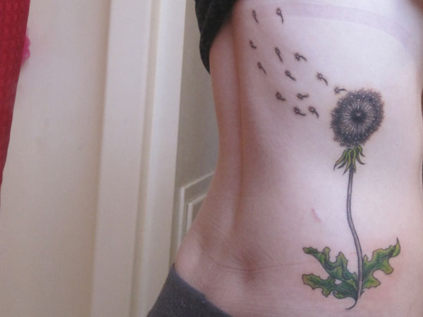 Graceful Dandelion Tattoo