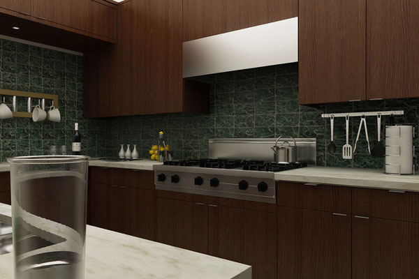 this kitchen having dark chocolate brown kitchen cabinets and white