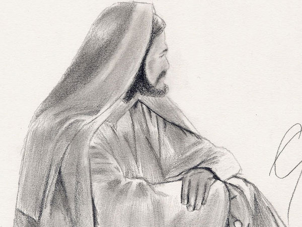 fast drawing of jesus 30 Magnificent Drawings of Jesus