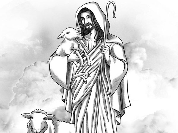 good shepherd 30 Magnificent Drawings of Jesus