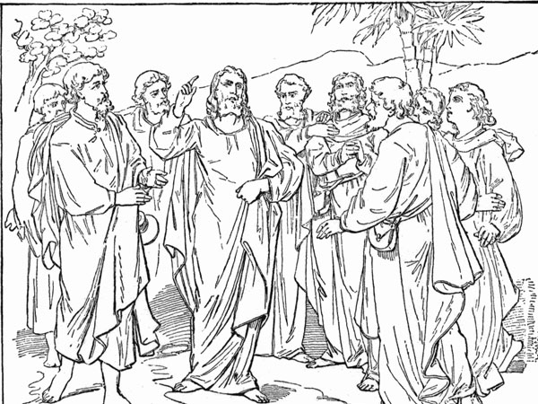 jesus and disciples 30 Magnificent Drawings of Jesus