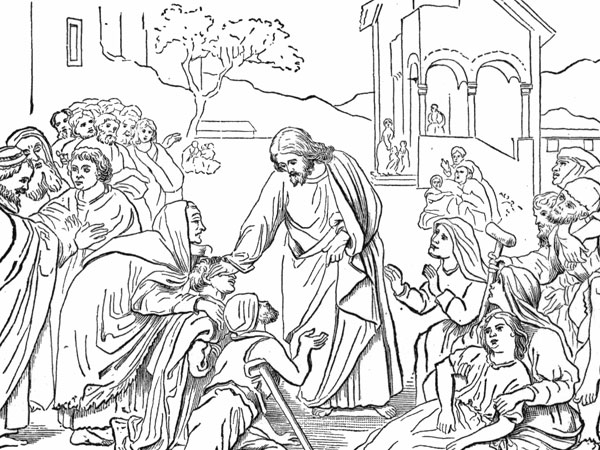 jesus heals the sick 30 Magnificent Drawings of Jesus