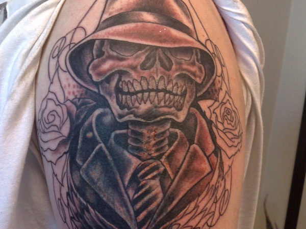 chicano gangster skull tattoo 25 Groovy Gangster Tattoos