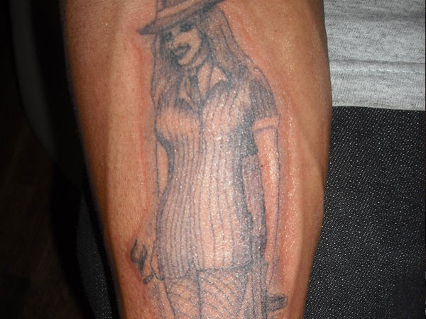 gangster girl tattoo 25 Groovy Gangster Tattoos