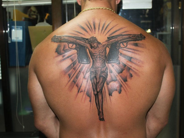 gangster jesus 25 Groovy Gangster Tattoos