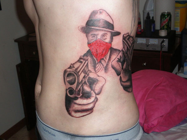 gangster tattoo 25 Groovy Gangster Tattoos