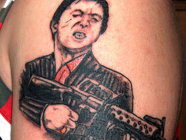 shoulder gangster 25 Groovy Gangster Tattoos